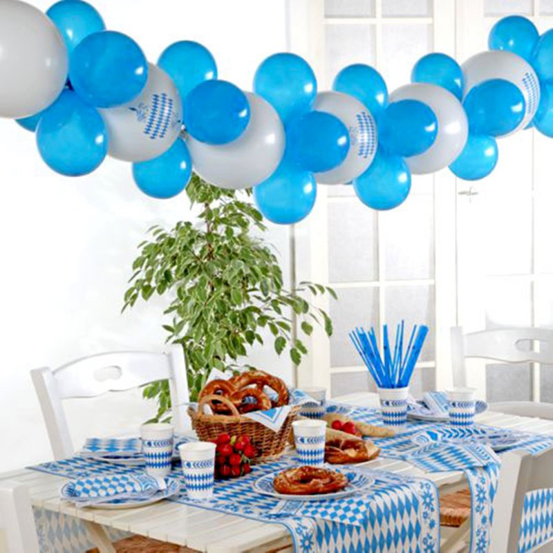 oktoberfest deko ballon girlande 2 m set 30 teilig zum s. Black Bedroom Furniture Sets. Home Design Ideas